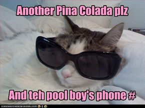 Another Pina Colada plz      And teh pool boy's phone #
