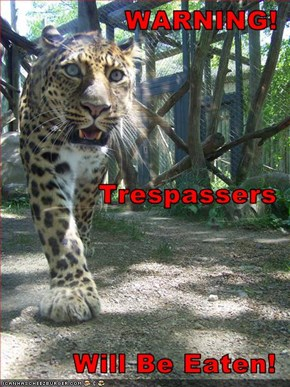 WARNING! Trespassers Will Be Eaten!