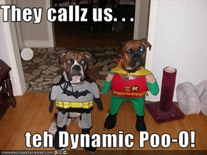 They callz us. . .  teh Dynamic Poo-O!