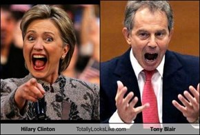 Hilary Clinton Totally Looks Like Tony Blair