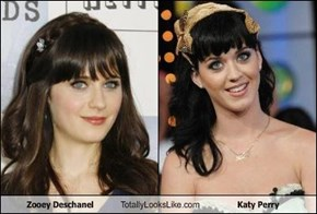 Zooey Deschanel Totally Looks Like Katy Perry