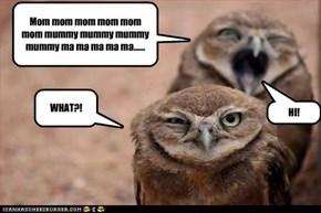 Mom mom mom mom mom mom mummy mummy mummy mummy ma ma ma ma ma......