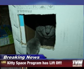 Breaking News - Kitty Space Program has Lift Off!