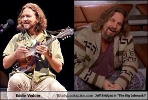 "Eddie Vedder Totally Looks Like Jeff Bridges in ""The Big Lebowski"""