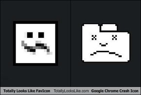 Totally Looks Like FavIcon Totally Looks Like Google Chrome Crash Icon