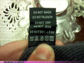 Wash Instructions are Confusing