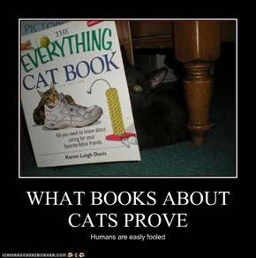WHAT BOOKS ABOUT CATS PROVE