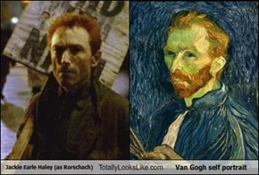 Jackie Earle Haley (as Rorschach) Totally Looks Like Van Gogh self portrait
