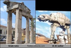 Greek ruins Totally Looks Like At-At walker