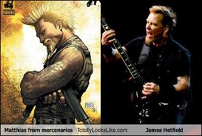 Matthias from mercenaries Totally Looks Like James Hetfield
