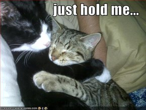 just hold me...