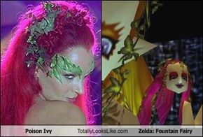 Poison Ivy Totally Looks Like Zelda: Fountain Fairy