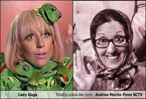 Lady Gaga Totally Looks Like Andrea Martin From SCTV
