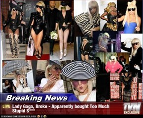 Breaking News - Lady Gaga, Broke - Apparently bought Too Much          Stupid S***
