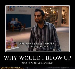 WHY WOULD I BLOW UP