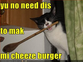 yu no need dis  to mak mi cheeze burger