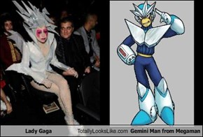 Lady Gaga Totally Looks Like Gemini Man from Megaman