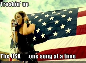 Trashin' up   The USA       one song at a time