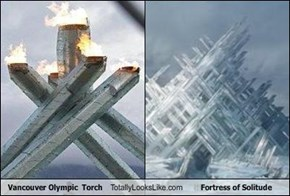 Vancouver Olympic  Torch Totally Looks Like Fortress of Solitude