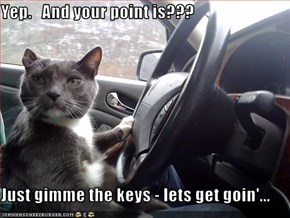 Yep.   And your point is???  Just gimme the keys - lets get goin'...