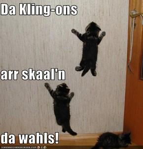 Da Kling-ons arr skaal'n da wahls!