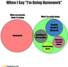 "When I Say ""I'm Doing Homework"""