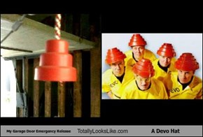 My Garage Door Emergency Release Totally Looks Like A Devo Hat