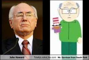 John Howard Totally Looks Like Mr. Garrison from South Park