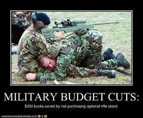 MILITARY BUDGET CUTS: