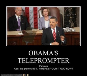 OBAMA'S TELEPROMPTER