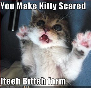 You Make Kitty Scared  Iteeh Bitteh form