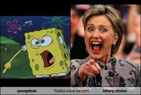 spongebob Totally Looks Like hillary clinton