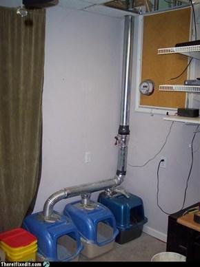 cat box vent system