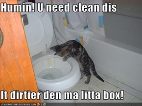 Humin! U need clean dis  It dirtier den ma litta box!