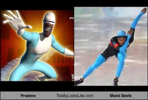 Frozone Totally Looks Like Shani Davis