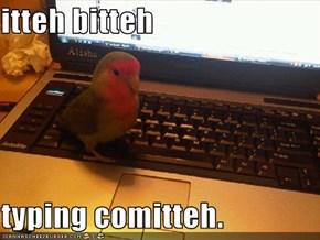 itteh bitteh  typing comitteh.
