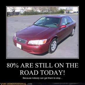 80% ARE STILL ON THE ROAD TODAY!