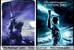 """The Messenger"" poster Totally Looks Like Percy Jackson poster"