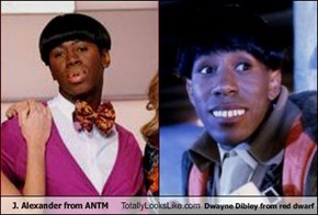 J. Alexander from ANTM Totally Looks Like Dwayne Dibley from red dwarf