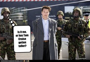 Is it me, or has Tom Cruise gotten taller?