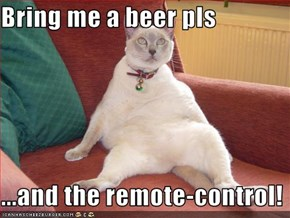 Bring me a beer pls  ...and the remote-control!