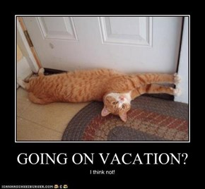 GOING ON VACATION?