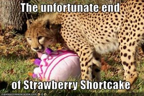The unfortunate end    of Strawberry Shortcake