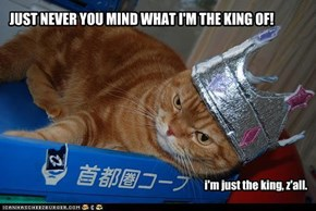 JUST NEVER YOU MIND WHAT I'M THE KING OF!
