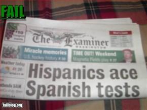 News Paper Fail