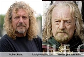 Robert Plant Totally Looks Like Theoden (Bernard Hill)