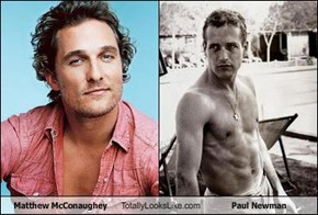 Matthew McConaughey  Totally Looks Like Paul Newman