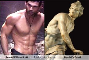 Seann William Scott Totally Looks Like Bernini's David