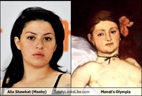 Alia Shawkat (Maeby) Totally Looks Like Manet's Olympia