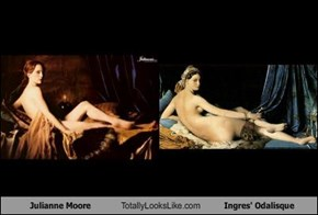 Julianne Moore Totally Looks Like Ingres' Odalisque